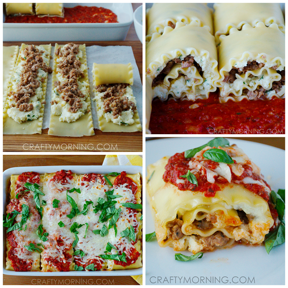 3-Cheese Sausage Lasagna Roll-Ups Recipe