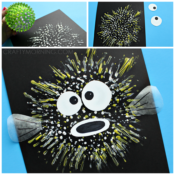 bouncy-ball-stamped-pufferfish-craft-for-kids