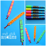 Easy Craft Stick Snakes
