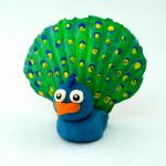 Seashell Peacock Craft for Kids using Playdough