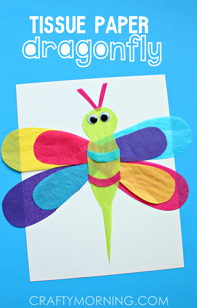 tissue-paper-dragonfly-kids-craft-idea
