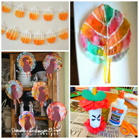 fall-coffee-filter-crafts-for-kids