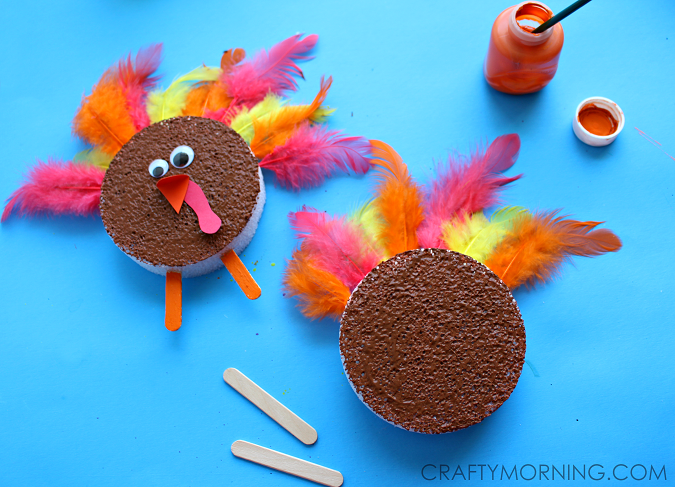 foam-disc-turkey-kids-craft-for-thanksgiving