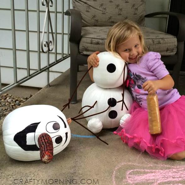 frozen-olaf-pumpkin-decorating-no-carve