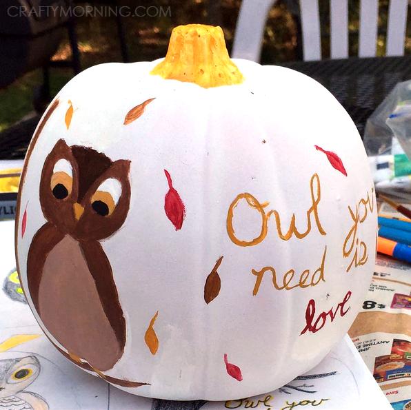 no-carve-owl-halloween-pumpkin