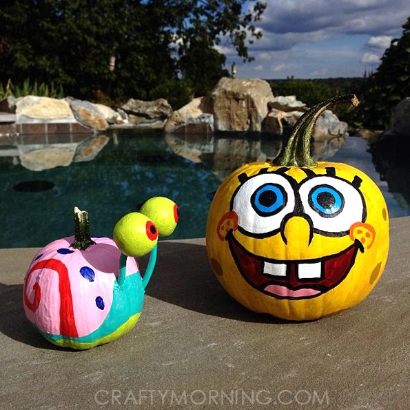 no-carve-spongebob-pumpkin-idea-for-kids