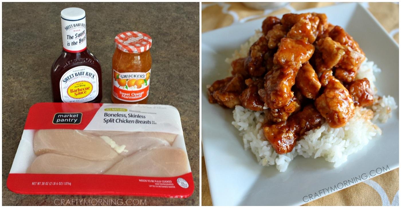 3 Ingredient Orange Chicken Sauce Recipe Crafty Morning