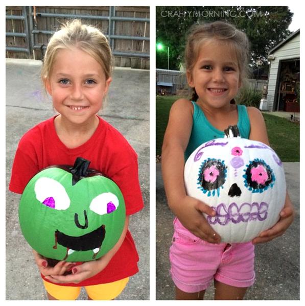 vampire-skull-no-carve-pumpkins-for-kids