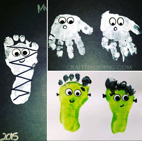 footprint-halloween-kids-crafts