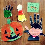 Adorable Handprint/Footprint Halloween Crafts