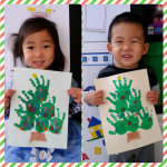 Easy Handprint Christmas Tree Craft
