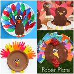 Thanksgiving Paper Plate Crafts for Kids