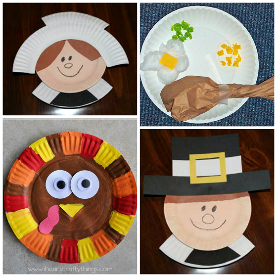 Thanksgiving Paper Plate Crafts For Kids Crafty Morning