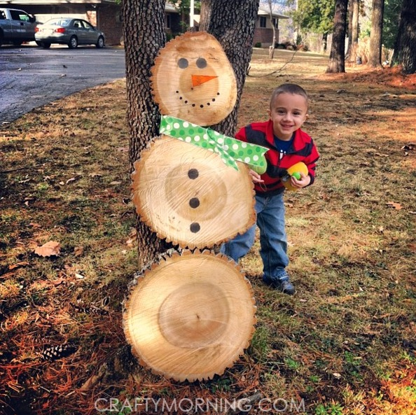 log-snowman-christmas-craft