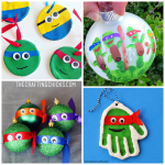 Ninja Turtle Ornament Ideas that Kids can Make