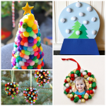 Pom Pom Christmas Crafts for Kids