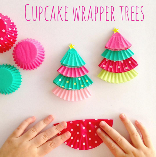cupcake-liner-christmas-tree-kids-crafts