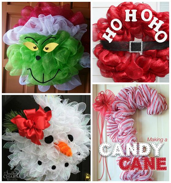 Deco Mesh Christmas Tree Wreath: Fun Christmas Deco Mesh Wreath Ideas
