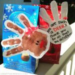 Handprint Reindeer Thank You Gift Idea