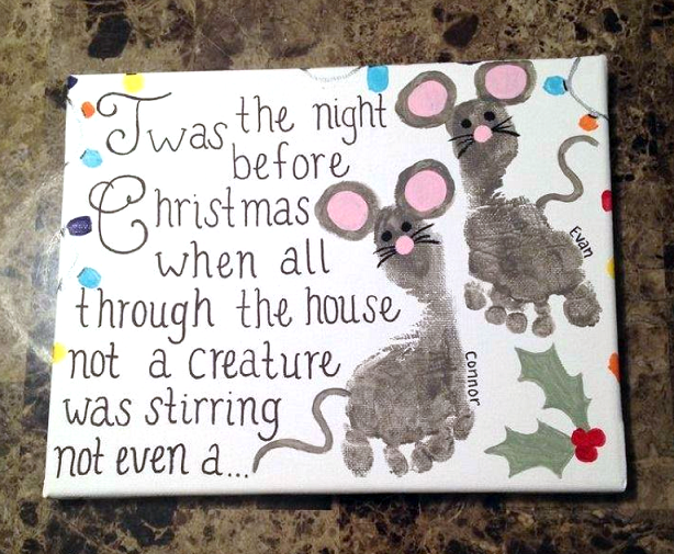 night-before-christmas-footprint-mouse-craft