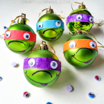 Ninja Turtle Christmas Ornaments (Kids Craft)