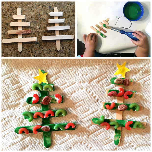 popsicle-stick-christmas-tree-noodle-kids-craft