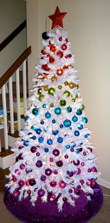 rainbow-white-christmas-tree-decorating-
