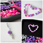 Beaded Heart Ornaments (Valentine's Day Activity)