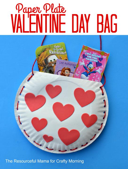 paper plate valentine bag 2