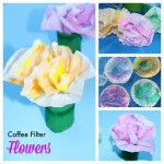 Coffee Filter Flowers in a Cardboard Tube Craft
