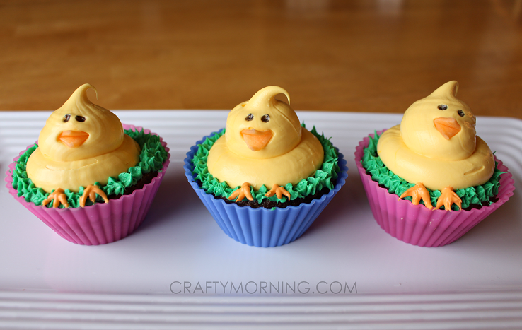 cute-easter-chick-cupcakes-dessert