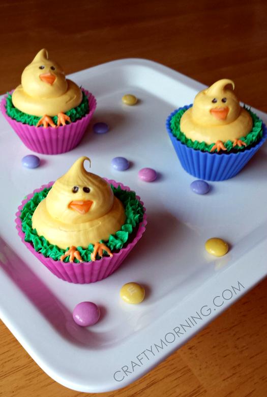 easter-chick-cupcakes-dessert-idea