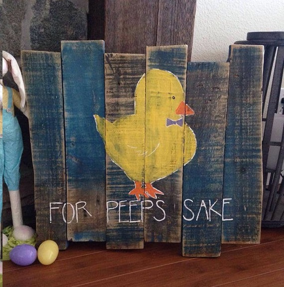 peep-easter-wood-pallet-chick-project