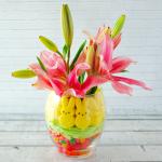 Peeps & Jelly Bean Easter Vase Centerpiece