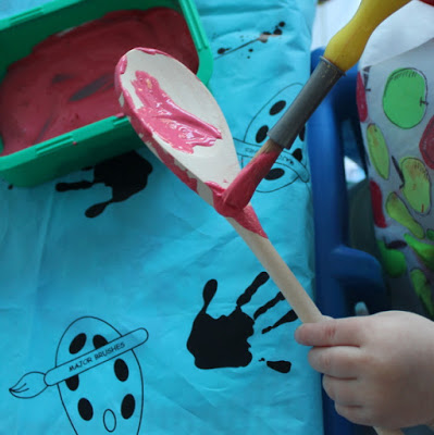 wooden spoon love bug craft - painting spoon