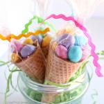 Edible Easter Egg Cone Treats