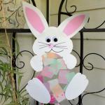Bunny Holding an Easter Egg Suncatcher