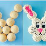 Pull Apart Easter Bunny Cupcake Cake