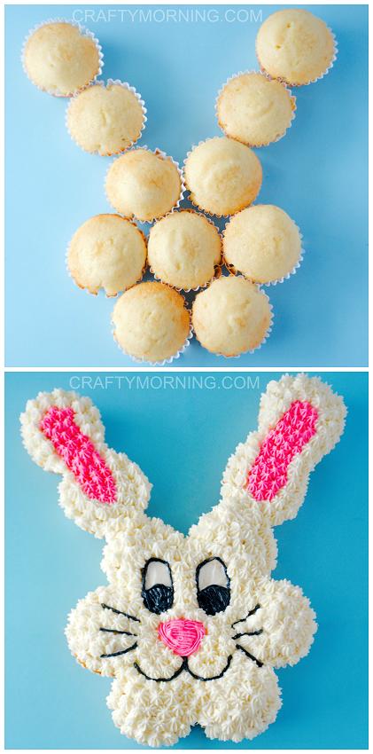 easter-bunny-pull-apart-cupcake-cake-idea