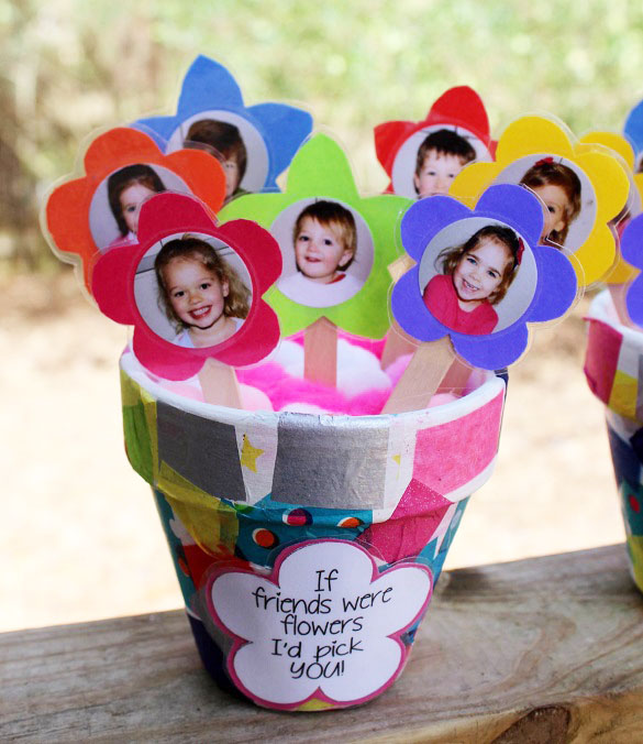 """Clay Pot """"If Friends Were Flowers I'd Pick You"""" Gift"""