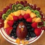 Fruit Turkey Platter for Thanksgiving