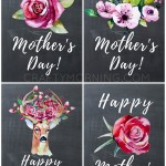 Free Chalkboard Happy Mother's Day Printables