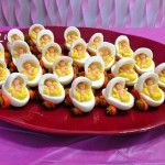 Deviled Egg Babies for a Baby Shower