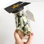 Graduation Glass Bottle Gift (Diploma Money)