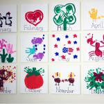 Handprint Kids Calendar Craft Idea