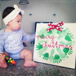 Handprint/Footprint Christmas Wreath Craft