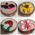 Summer Themed Paper Quilled Magnets
