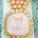 Diamond Ring Engagement Cupcake Cake