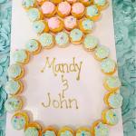 Diamond Ring Engagement Cupcake Cake