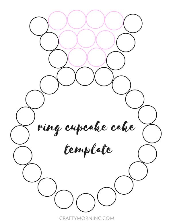 wedding-engagement-ring-cupcake-cake-template